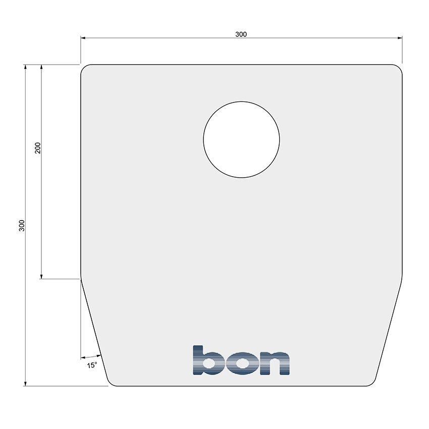 Hauchschutz / Atemschutz für bon Spaltlampen 30x30cm