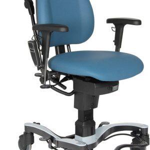 VELA Medical Move+ fahrbarer Patientenstuhl mit elektrischer Höhenverstellung und Schiebebügel